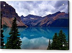 Bow Lake, Banff, Ab  Acrylic Print by Heather Vopni