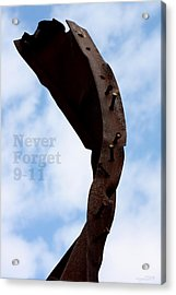 Never Forget 911 Acrylic Print by DazzleMe Photography