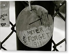 Never Forget Acrylic Print by Jerry Patterson