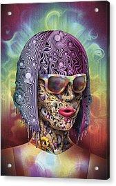 Never Hide Acrylic Print by Robert Palmer