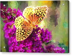 Never Hide Your Wings Acrylic Print