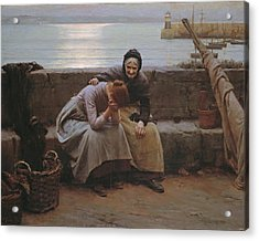 Never Morning Wore To Evening But Some Heart Did Break Acrylic Print by Walter Langley