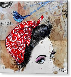 Never Sure When Acrylic Print by Loui Jover