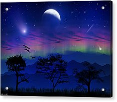 Acrylic Print featuring the photograph Neverending Nights by Bernd Hau