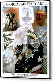 New American Pride Acrylic Print by Todd Krasovetz