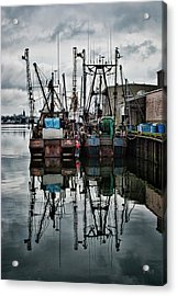 New Bedford Waterfront No. 1 - Color Acrylic Print by David Gordon