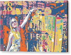 New Blonde Acrylic Print by Shay Culligan