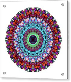 New Dawn Mandala Art - Sharon Cummings Acrylic Print by Sharon Cummings