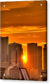 New Day In The City Acrylic Print by William Wetmore