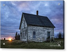 New Day Old House Acrylic Print by John Greim