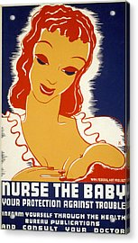 New Deal: Wpa Poster, 1936 Acrylic Print by Granger