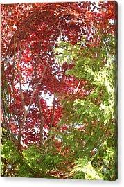 New England Autumn Globe Acrylic Print by Kristine Nora
