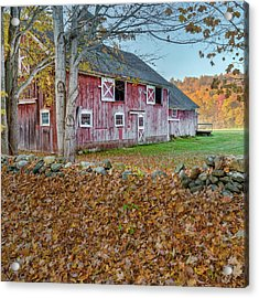 New England Barn 2016 Square Acrylic Print by Bill Wakeley