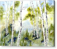 New England Birches Acrylic Print