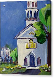 New England Church Acrylic Print by Betty Pieper