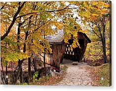 New England College No. 63 Covered Bridge  Acrylic Print