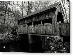 New England Covered Bridge Acrylic Print