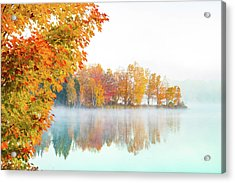 New England Fall Colors Of Maine Acrylic Print