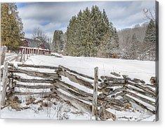New England Farm Winter 2016 Acrylic Print by Bill Wakeley