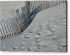 New England Footprints Acrylic Print by Gene Sizemore