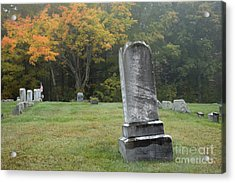 New England Graveyard During The Autumn  Acrylic Print by Erin Paul Donovan