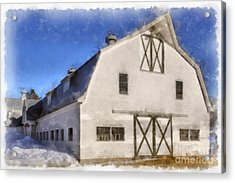 New England Horse Barn South Woodstock Vermont Acrylic Print by Edward Fielding