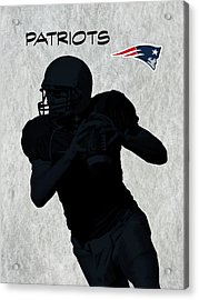 Acrylic Print featuring the digital art New England Patriots Football by David Dehner
