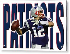 New England Patriots Acrylic Print by Stephen Younts
