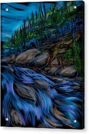 New England Stream Acrylic Print by Russell Pierce