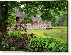 New England Summer Barn Acrylic Print by Bill Wakeley