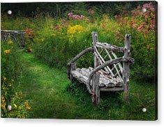 New England Summer Rustic Acrylic Print by Bill Wakeley