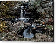 New England Waterfall In Autumn Acrylic Print