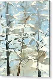 New England Winter Scape No.45 Acrylic Print by Sumiyo Toribe