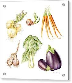 New Farmers Market Study Acrylic Print by Fran Henig