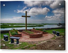 Acrylic Print featuring the photograph New Garden Cross At Belin Umc by Bill Barber