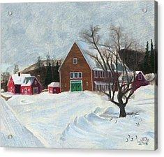 New Hampshire Farm In Winter Acrylic Print