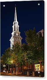 Acrylic Print featuring the photograph New Hampshire Portsmouth North Church by Juergen Roth