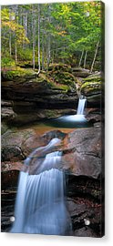 New Hampshire Sabbaday Falls Panorama Acrylic Print