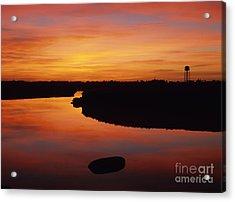 New Hampshire Salt Marsh At Sunrise Acrylic Print by Erin Paul Donovan