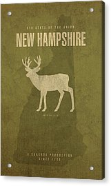 New Hampshire State Facts Minimalist Movie Poster Art Acrylic Print