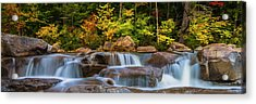 New Hampshire White Mountains Swift River Waterfall In Autumn With Fall Foliage Acrylic Print