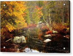 New Hampshire Wilderness-autumn Scenic Acrylic Print by Thomas Schoeller