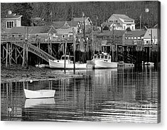 Acrylic Print featuring the photograph New Harbor Docks by Olivier Le Queinec