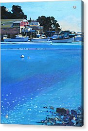 New Harbor Acrylic Print by Robert Bissett
