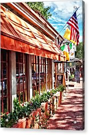 New Hope Pa - Outdoor Seating Now Open Acrylic Print