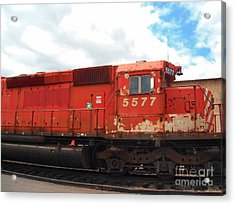 Acrylic Print featuring the photograph New Hope Train by Susan Carella