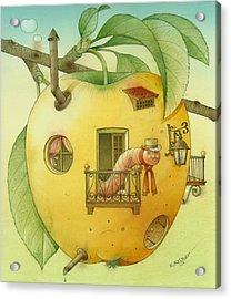 New House Acrylic Print by Kestutis Kasparavicius
