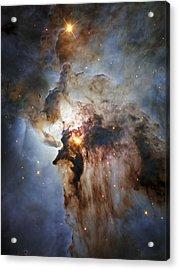 New Hubble View Of The Lagoon Nebula Acrylic Print