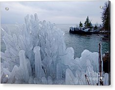 New Ice On Lake Superior Acrylic Print