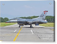 New Jersey Air National Guard F-16c Acrylic Print by Daniele Faccioli